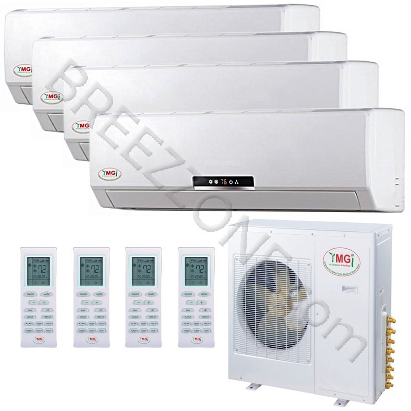 Small Heating And Cooling Units : K ymgi quad zone ductless mini split air