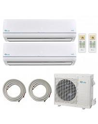12+18K Senville Dual Zone Ductless Mini Split Air Conditioner Heat Pump 208-230V 18.5 SEER DC Inverter