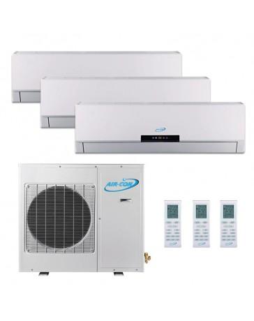 9+9+12K Air-Con Tri Zone Ductless Mini Split Air Conditioner Heat Pump 208-230V 16 SEER DC Inverter