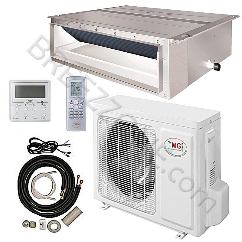 18000 BTU YMGI Ducted Recessed Mini Split Air Conditioner ...