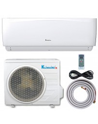 18000 BTU Klimaire Ductless Mini Split Air Conditioner Heat Pump 208-230V 16.4 SEER DC Inverter with Kit