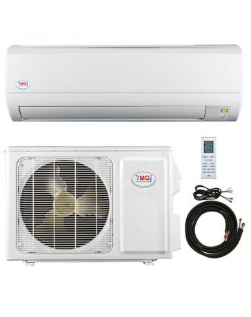 12000 BTU YMGI Ductless Mini Split Air Conditioner Heat Pump 110-120V 16 SEER DC Inverter with Kit