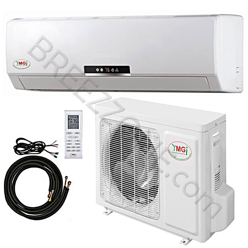12000 btu ymgi ductless mini split air conditioner heat pump 115v 20 seer dc inverter with kit. Black Bedroom Furniture Sets. Home Design Ideas