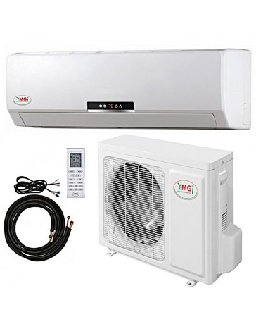 18000 BTU YMGI Ductless Mini Split Air Conditioner Heat Pump 208-230V 18 SEER DC Inverter with Kit