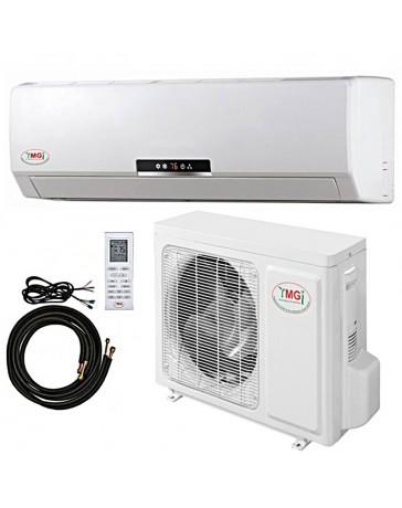 18000 BTU YMGI Ductless Mini Split Air Conditioner Heat Pump 208-230V 18 SEER DC Inverter with Kit