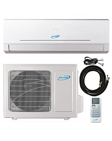 18000 BTU Air-Con Ductless Mini Split Air Conditioner Heat Pump 208-230V 23.3 SEER DC Inverter with Kit