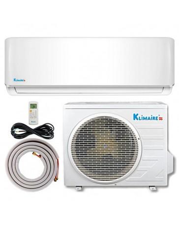 12000 BTU Klimaire Ductless Mini Split Air Conditioner Heat Pump 115V 21.5 SEER DC Inverter with Kit