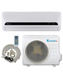 12000 BTU Klimaire Ductless Mini Split Air Conditioner Heat Pump 115V 15 SEER DC Inverter with Kit
