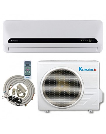 12000 BTU Klimaire Ductless Mini Split Air Conditioner Heat Pump 115V 15 SEER DC Inverter with Kit
