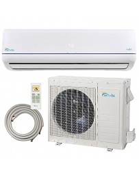 9000 BTU Senville Ductless Mini Split Air Conditioner Heat Pump 208-230V 23 SEER DC Inverter with Line Set