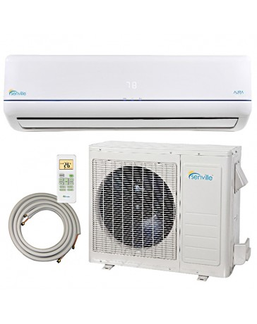 12000 BTU Senville Ductless Mini Split Air Conditioner Heat Pump 208-230V 22 SEER DC Inverter with Line Set