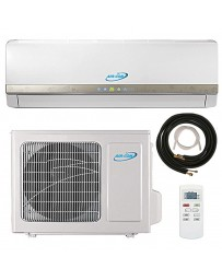 9000 BTU Air-Con Ductless Mini Split Air Conditioner Heat Pump 208-230V 15 SEER DC Inverter with Kit
