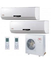 9+12K YMGI Dual Zone Ductless Mini Split Air Conditioner Heat Pump 208-230V 16 SEER DC Inverter
