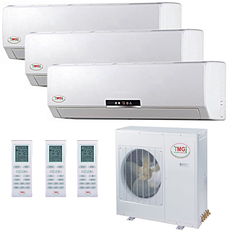 9 9 9k ymgi tri zone ductless mini split air conditioner heat pump rh breezzone com Light Switch Wiring Diagram Residential Electrical Wiring Diagrams