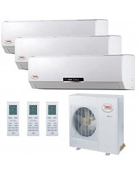 9+12+12K YMGI Tri Zone Ductless Mini Split Air Conditioner Heat Pump 208-230V 16 SEER DC Inverter