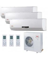 12+12+24K YMGI Tri Zone Ductless Mini Split Air Conditioner Heat Pump 208-230V 16 SEER DC Inverter