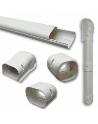 "4"" 7.5 Ft Line Set Cover Kit For Split Air Conditioner & Heat Pump Systems"