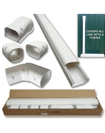 """4"""" 14 Ft Line Set Cover Kit For Split Air Conditioner & Heat Pump Systems"""