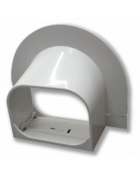 "4"" Corner Cap Line Set Cover For Split Air Conditioner & Heat Pump Systems"