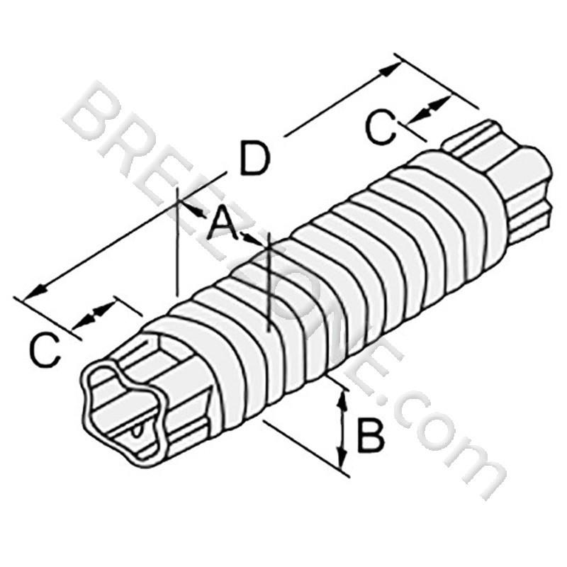 3 u0026quot  flexible joint line set cover for split air conditioner