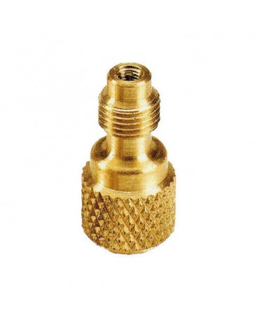 "Brass Service Valve Adapter 1/2"" Female X 1/4"" Male R-410a CPS"