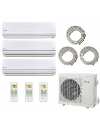 9+9+9K Senville Tri Zone Ductless Mini Split Air Conditioner Heat Pump 208-230V 23 SEER DC Inverter
