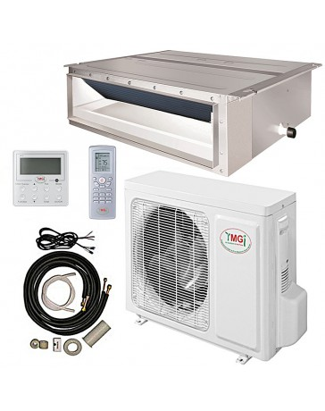 24000 BTU YMGI Ducted Recessed Mini Split Air Conditioner Heat Pump 208-230V 18 SEER DC Inverter with Kit