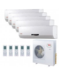 9+9+9+9+24K YMGI Five Zone Ductless Mini Split Air Conditioner Heat Pump 208-230V 16 SEER DC Inverter