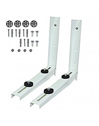 9000 - 12000 BTU Outdoor Wall Mounting Bracket for Ductless Mini Split Air Conditioners and Heat Pumps Powder Coated