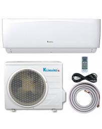 9000 BTU Klimaire Ductless Mini Split Air Conditioner Heat Pump 208-230V 16.4 SEER DC Inverter with Kit
