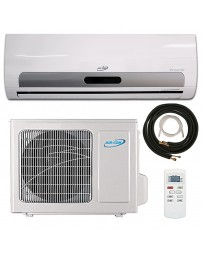 9000 BTU Air-Con Ductless Mini Split Air Conditioner Heat Pump 110-120V 16 SEER DC Inverter with Kit