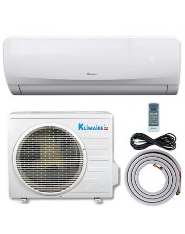 12000 BTU Klimaire Ductless Mini Split Air Conditioner Heat Pump 115V 23 SEER DC Inverter with Kit