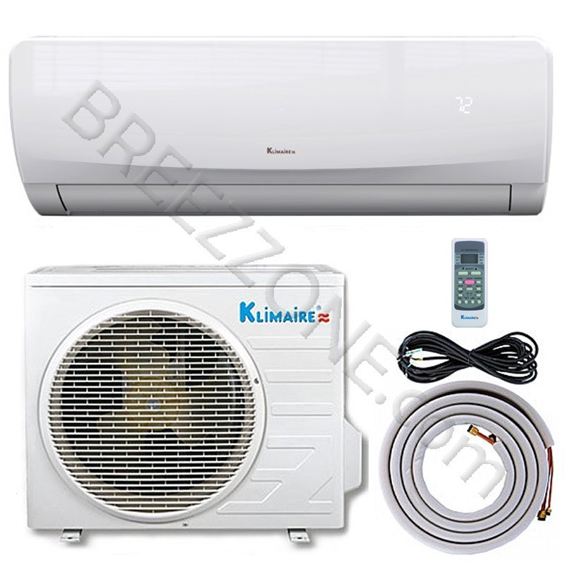 12000 btu klimaire ductless mini split air conditioner. Black Bedroom Furniture Sets. Home Design Ideas
