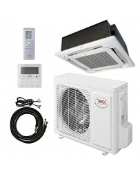 18000 BTU YMGI Ceiling Cassette Mini Split Air Conditioner Heat Pump 208-230V 18 SEER DC Inverter with Kit