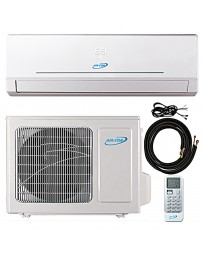 9000 BTU Air-Con Ductless Mini Split Air Conditioner Heat Pump 208-230V 22.5 SEER DC Inverter with Kit