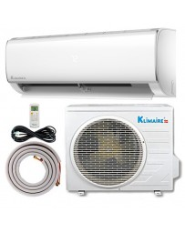 18000 BTU Klimaire Ductless Mini Split Air Conditioner Heat Pump 208-230V 15.5 SEER DC Inverter with Kit