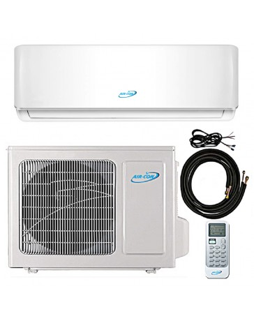 9000 BTU Air-Con Ductless Mini Split Air Conditioner Heat Pump 208-230V 22 SEER DC Inverter