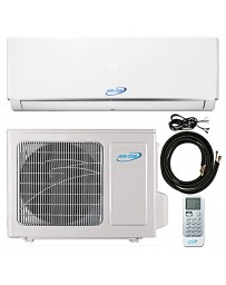 9000 BTU Air-Con Ductless Mini Split Air Conditioner Heat Pump 208-230V 16.3 SEER DC Inverter with Kit