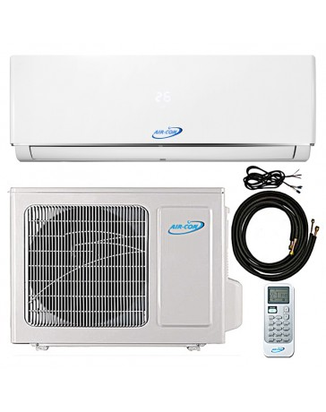 12000 BTU Air-Con Ductless Mini Split Air Conditioner Heat Pump 208-230V 16.7 SEER DC Inverter with Kit