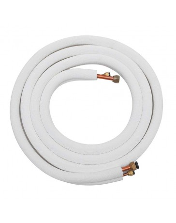1/4-3/8 25 Ft Copper Line Set for Ductless Mini Split Air Conditioner and Heat Pump Systems