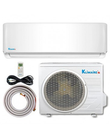 9000 BTU Klimaire Ductless Mini Split Air Conditioner Heat Pump 115V 15 SEER DC Inverter with Kit
