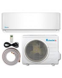 12000 BTU Klimaire Ductless Mini Split Air Conditioner Heat Pump 208-230V 16 SEER DC Inverter with Kit
