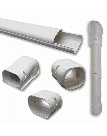 """3"""" 7.5 Ft Line Set Cover Kit For Mini Split Air Conditioner & Heat Pump Systems"""