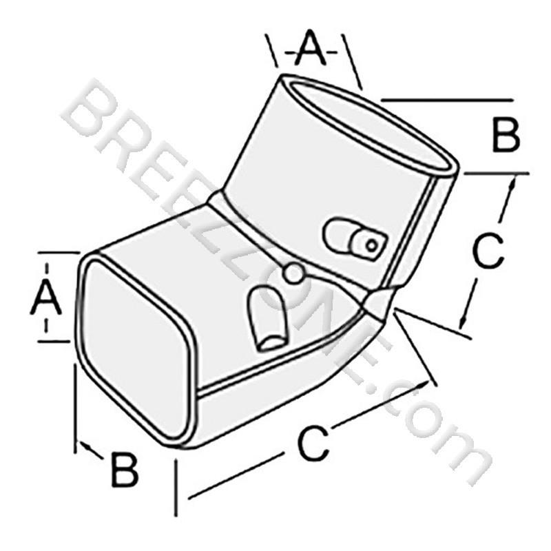 4 Quot Elbow Vertical 90 176 120 176 Line Set Cover For Split Air