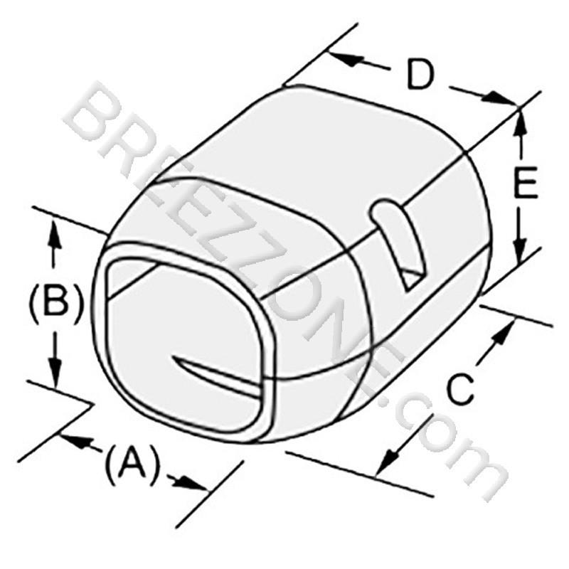 3 End Cap Line Set Cover For Split Air Conditioner Heat Pump Systems